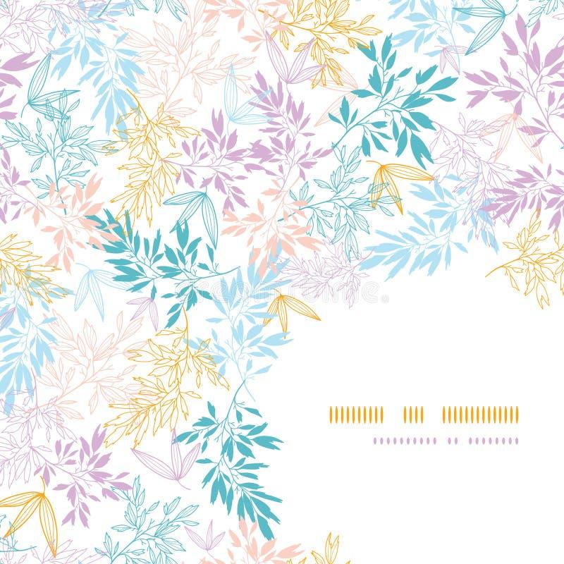 Download Modello Senza Cuciture Dell'angolo Pastello Variopinto Dei Rami Illustrazione Vettoriale - Illustrazione di angolo, nave: 30827848