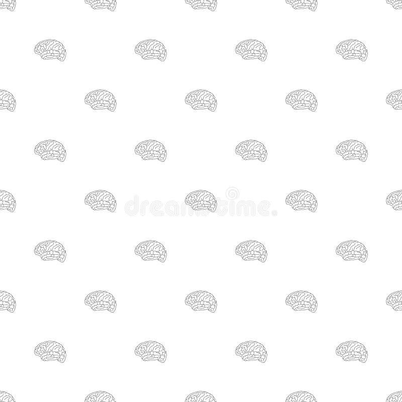 Modello senza cuciture dell'icona di vettore del cervello illustrazione vettoriale