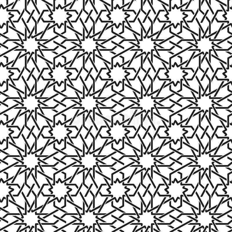 Modello senza cuciture dell'ornamento arabo illustrazione vettoriale