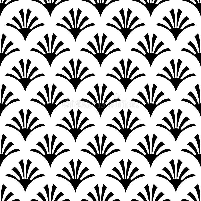 Modello senza cuciture dell'ornamento nero su fondo bianco immagini stock libere da diritti