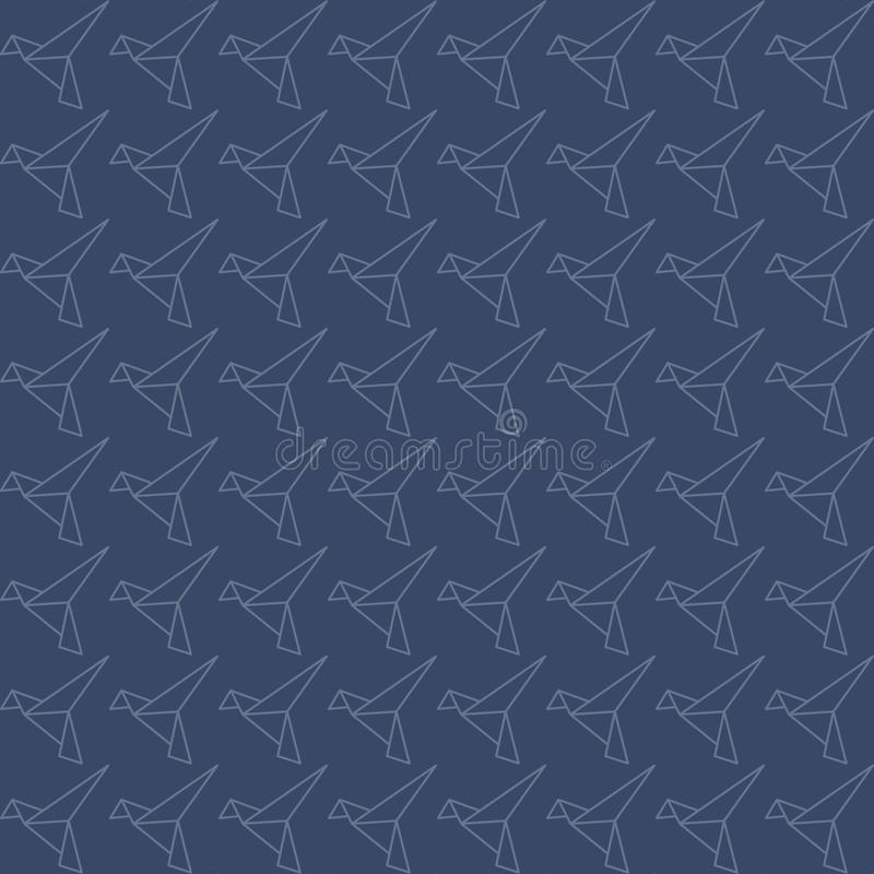 Modello senza cuciture dell'uccello di origami illustrazione vettoriale