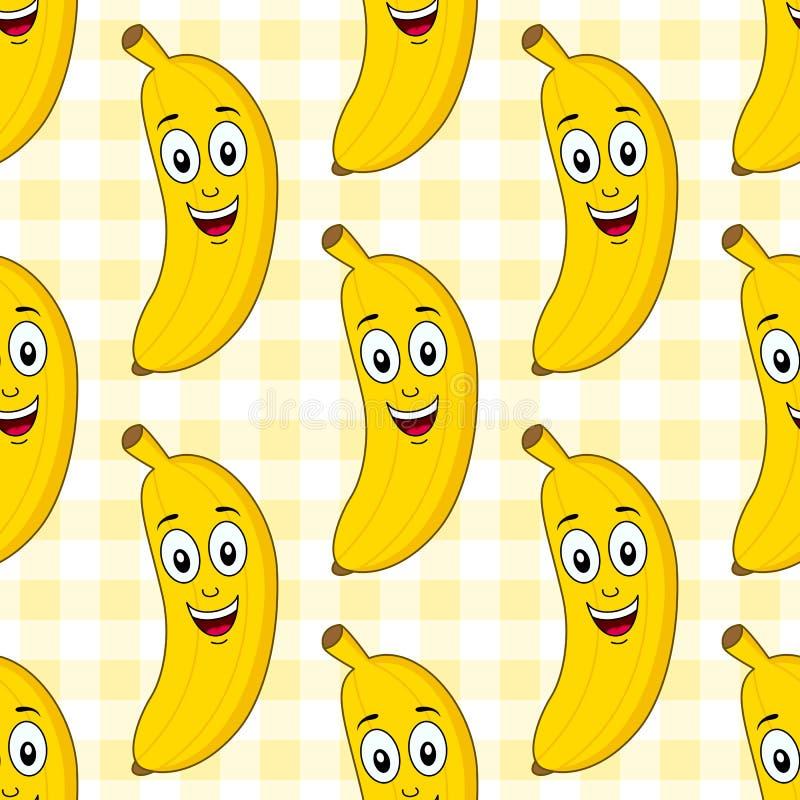 Modello senza cuciture della banana sveglia del fumetto illustrazione di stock
