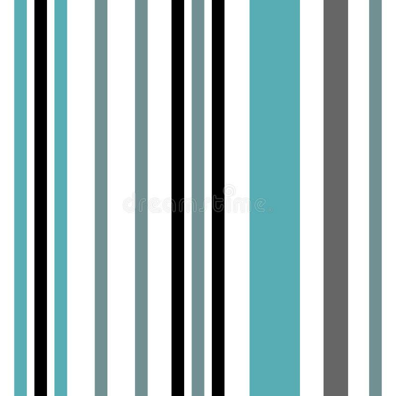 Modello senza cuciture della banda con la banda parallela verticale blu e bianca Fondo delle bande del modello dell'estratto di v illustrazione vettoriale