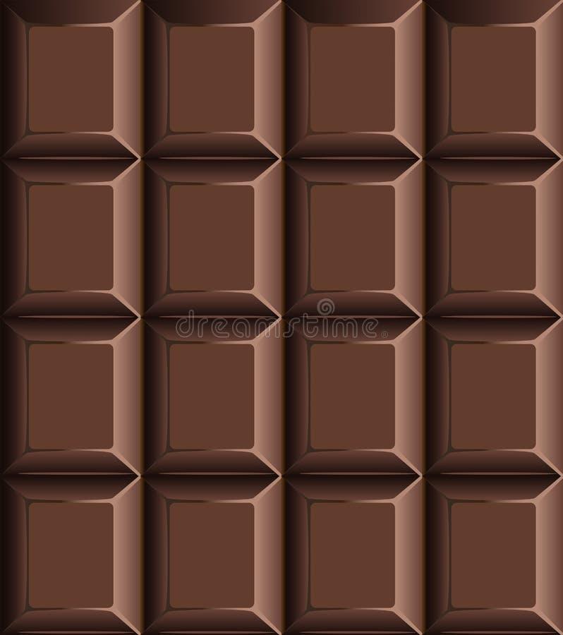 Modello senza cuciture della barra di cioccolato fotografie stock