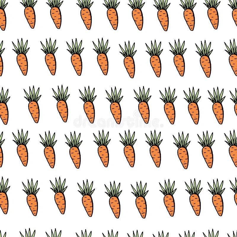 Modello senza cuciture della carota di pasqua sul contesto bianco royalty illustrazione gratis