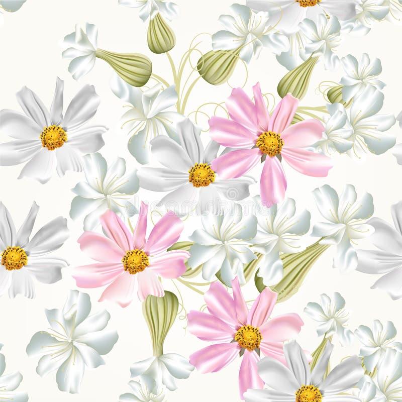 Modello senza cuciture della carta da parati di vettore for Carta da parati con fiori