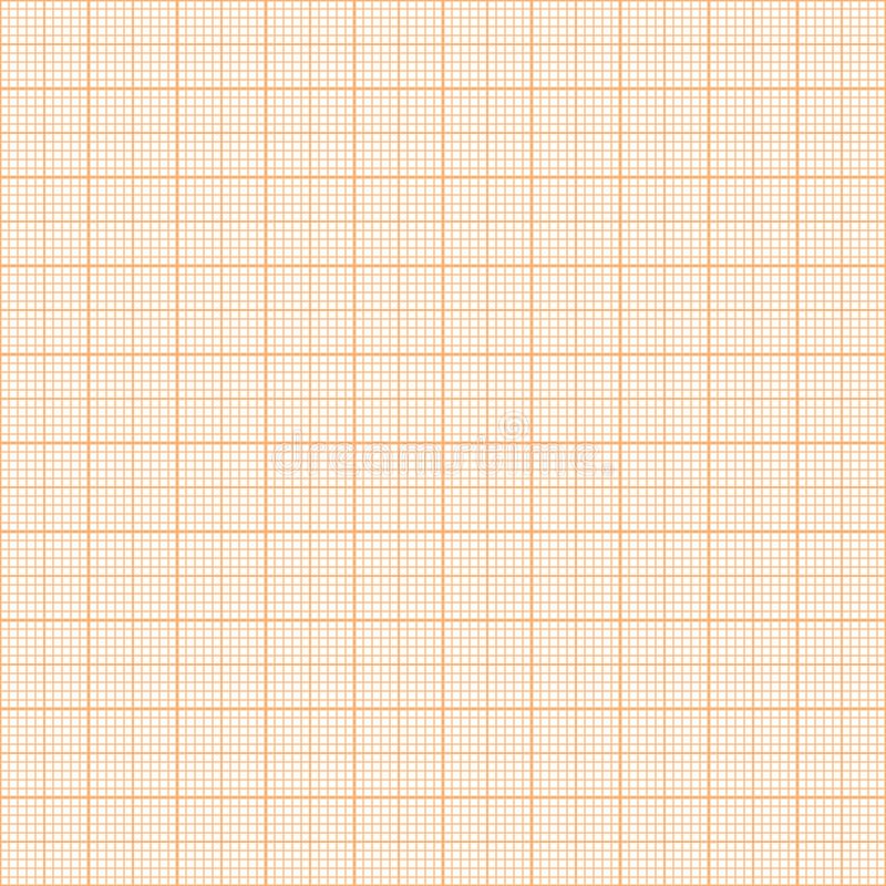 Modello senza cuciture della carta millimetrata metrica arancio di vettore illustrazione di stock