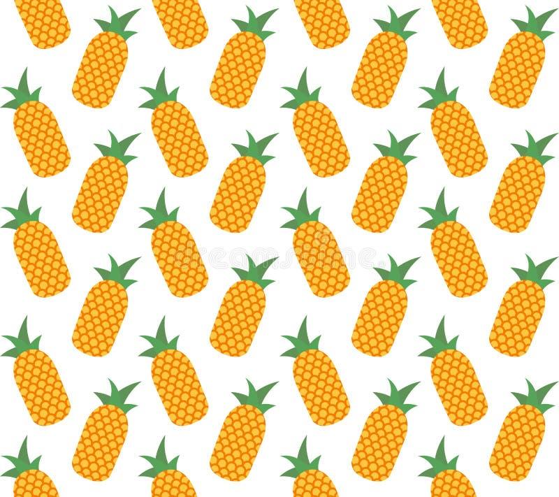 Modello senza cuciture della frutta dell'ananas di vettore royalty illustrazione gratis