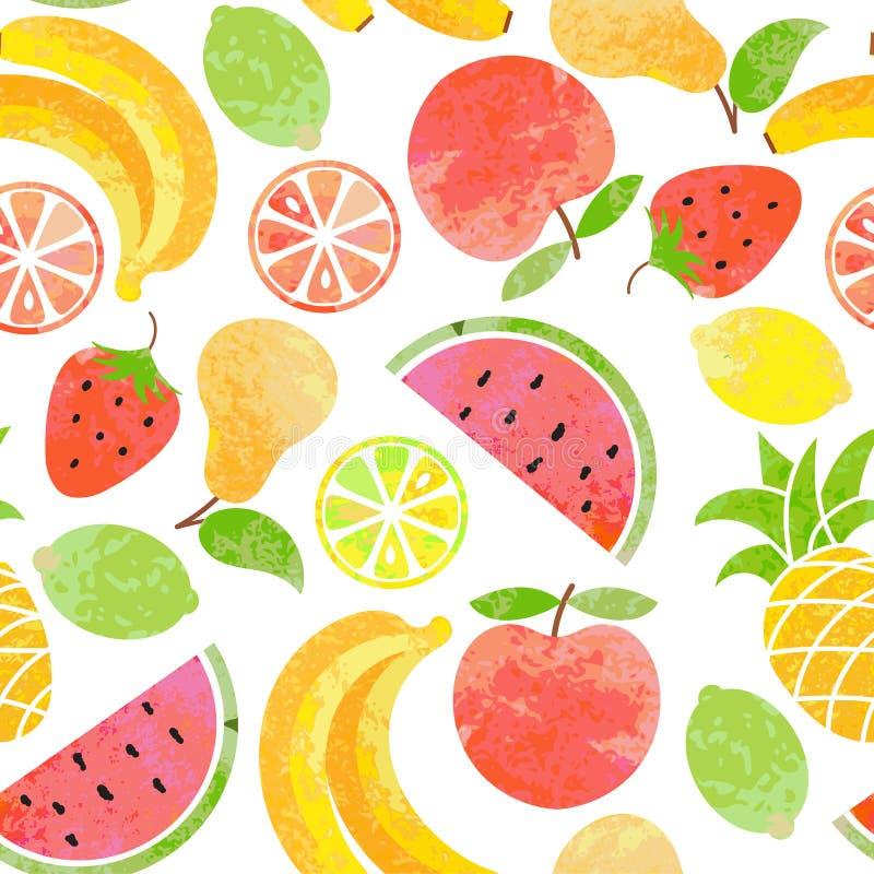Modello senza cuciture della frutta di vettore royalty illustrazione gratis