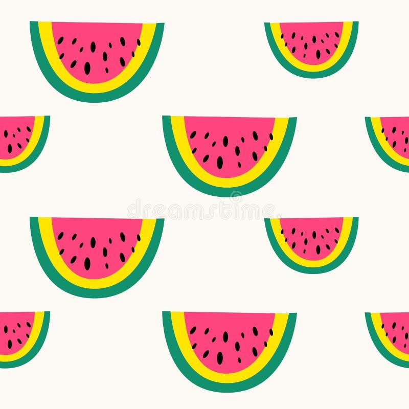 Modello senza cuciture della frutta di vettore angurie Stile scandinavo, stampa sveglia illustrazione di stock