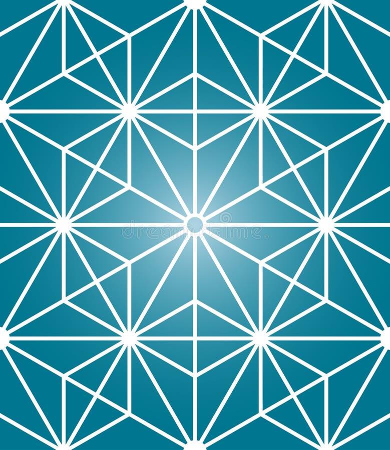 Modello senza cuciture della geometria sacra moderna di vettore illustrazione di stock
