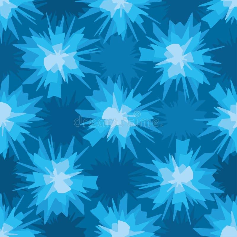 Modello senza cuciture della macchia blu piena di fruscii illustrazione vettoriale