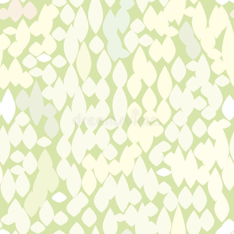 Modello senza cuciture della macchia irregolare astratta Struttura floreale macchiata illustrazione vettoriale