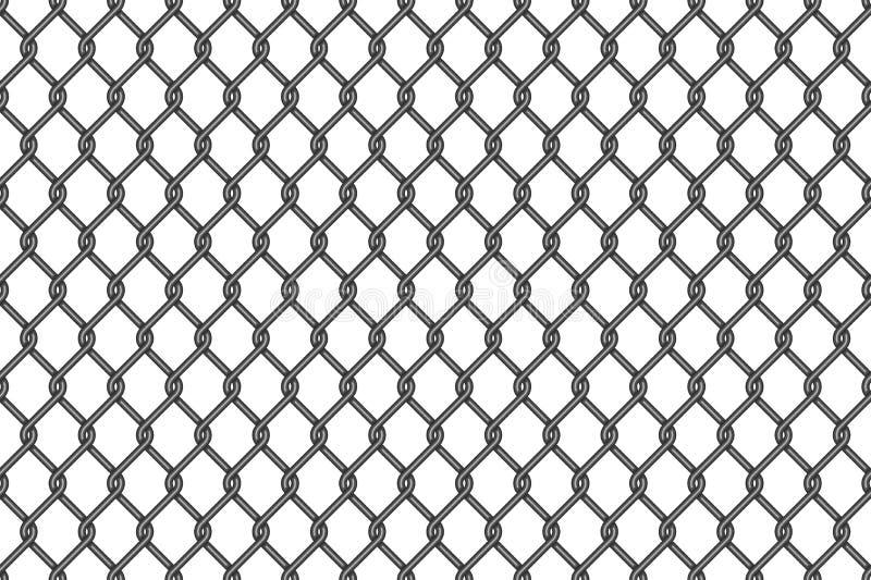 Modello senza cuciture della maglia del nastro metallico illustrazione vettoriale