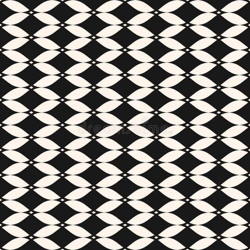 Modello senza cuciture della maglia ornamentale di vettore Fondo in bianco e nero astratto illustrazione di stock