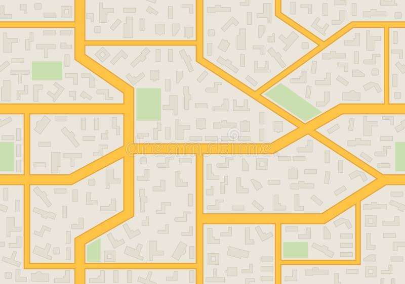 Modello senza cuciture della mappa astratta della città illustrazione di stock