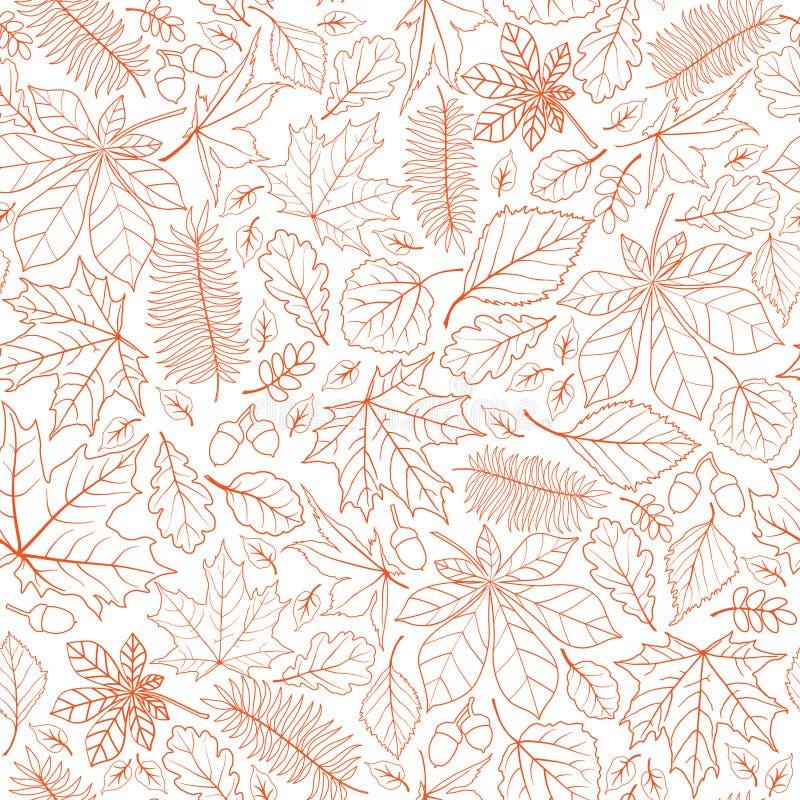 Modello senza cuciture della natura della foglia di caduta Autumn Leaves Background Sea fotografia stock