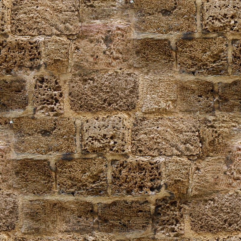 Modello senza cuciture della parete di pietra reale decorativa di progettazione moderna di stile immagini stock libere da diritti