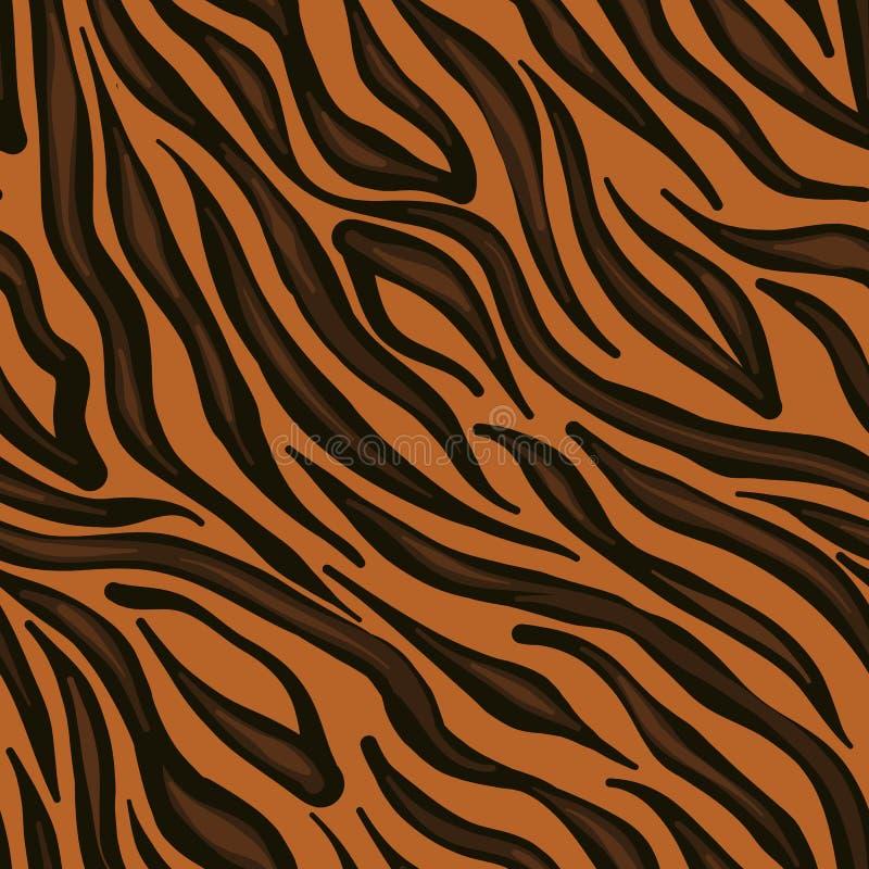 Modello senza cuciture della pelle della tigre Forma del gentiluomo fotografie stock