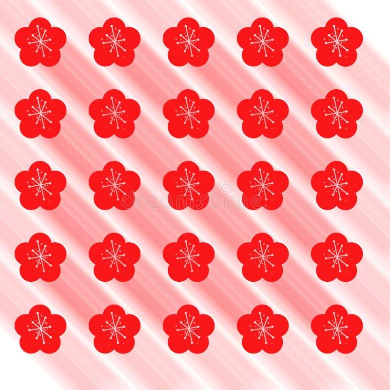 Modello senza cuciture della primavera con i fiori rossi royalty illustrazione gratis