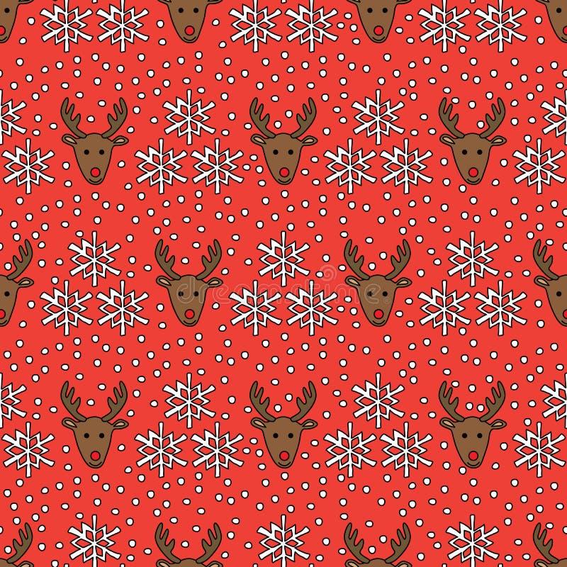 Modello senza cuciture della renna illustrazione vettoriale