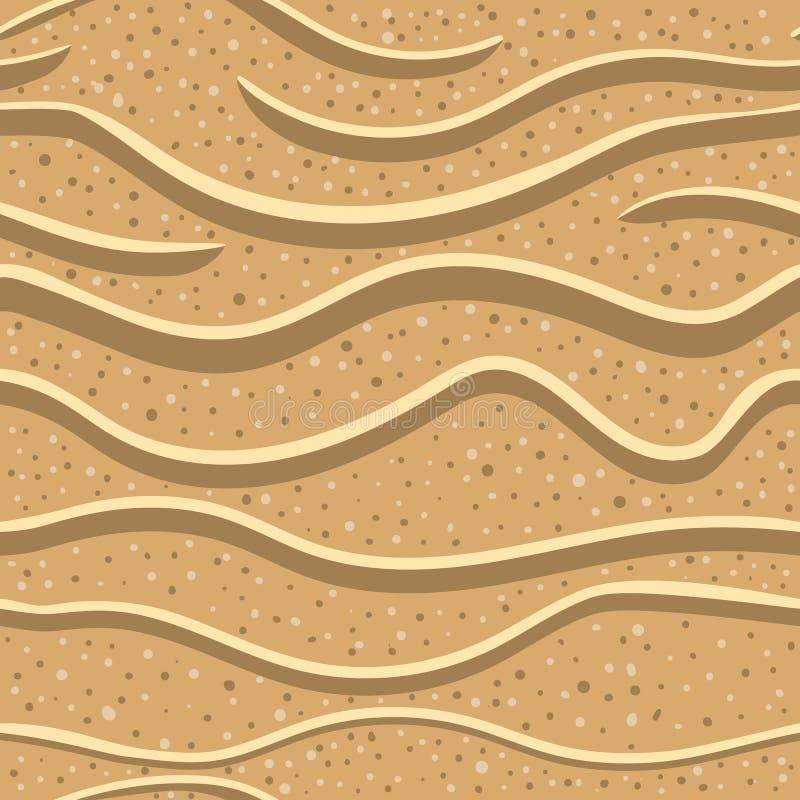 Modello senza cuciture 2 della sabbia illustrazione di stock