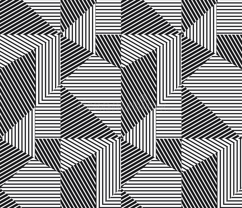 Modello senza cuciture delle bande geometriche complesse illustrazione vettoriale