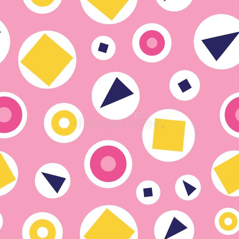 Modello senza cuciture delle bolle di divertimento su un fondo rosa royalty illustrazione gratis