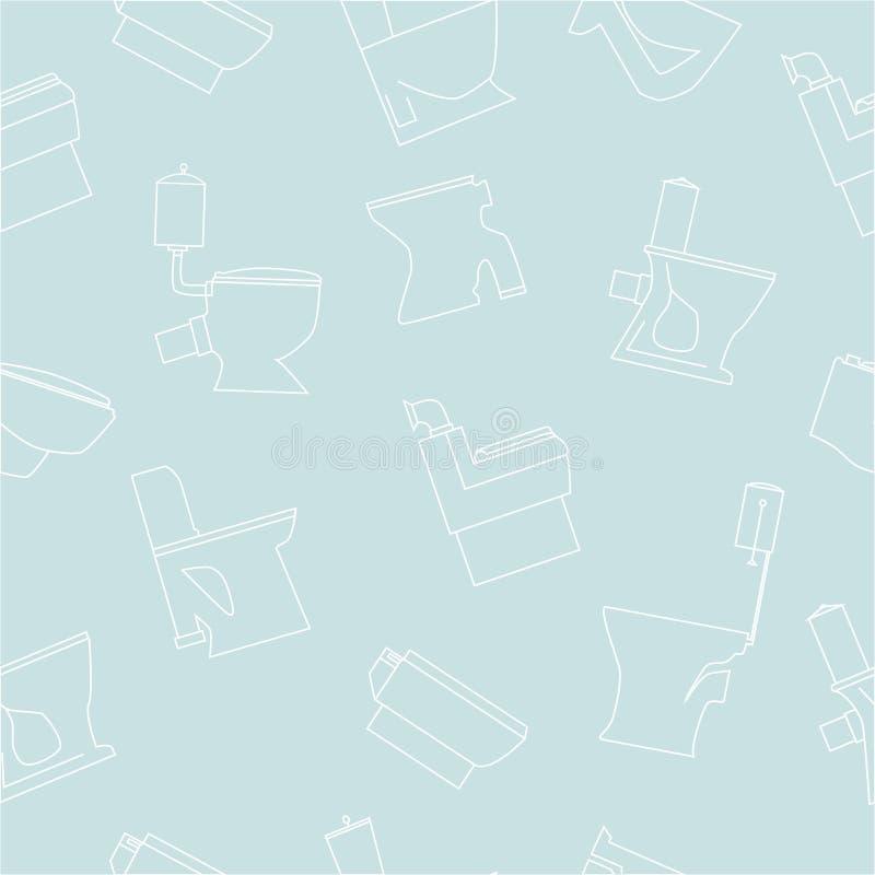 Modello senza cuciture delle ciotole di toilette illustrazione vettoriale