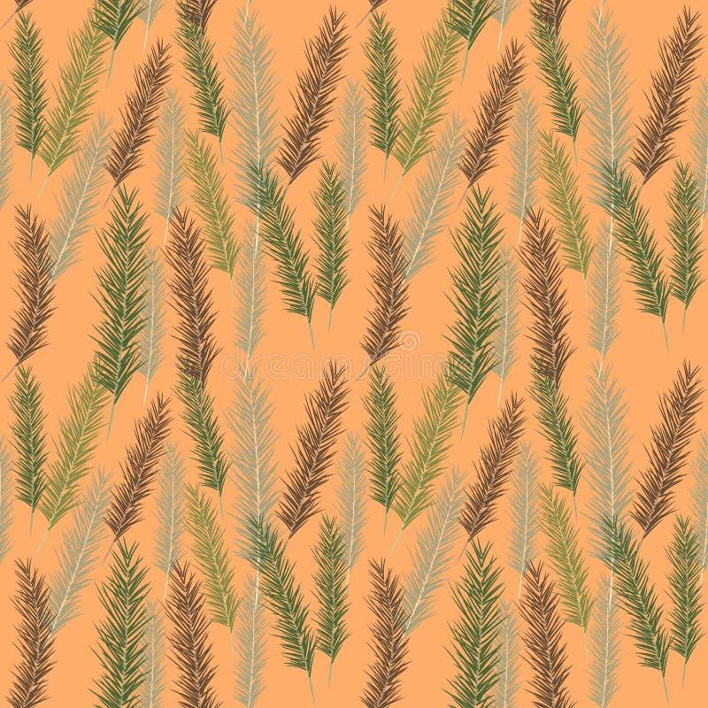 Modello senza cuciture delle foglie di palma di colore immagini stock