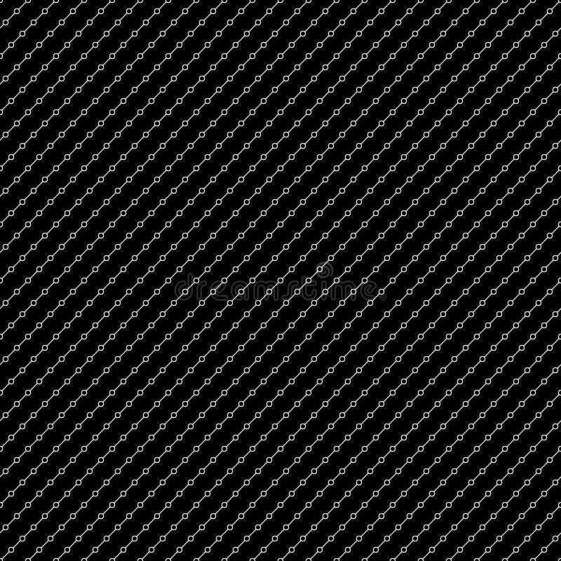 Modello senza cuciture delle linee e dei cerchi diagonali Priorità bassa geometrica royalty illustrazione gratis