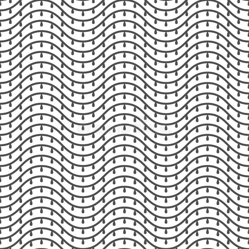 Modello senza cuciture delle linee ondulate sottragga la priorità bassa royalty illustrazione gratis