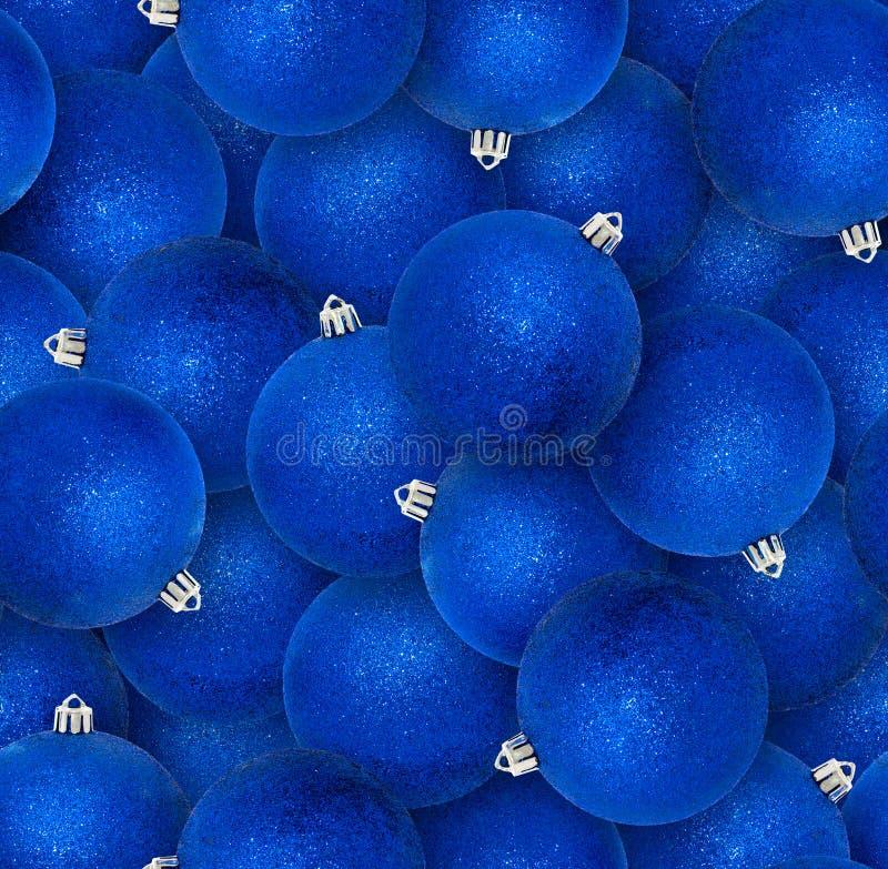Modello senza cuciture delle palle blu di natale Natale tremulo o fotografie stock