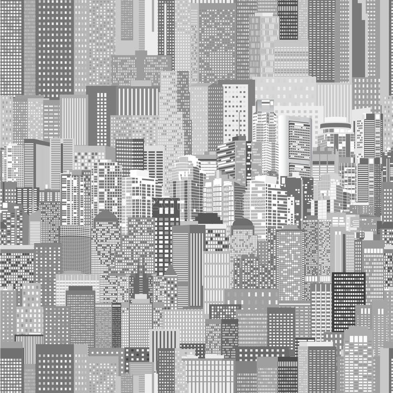 Modello senza cuciture di architettura urbana di vettore illustrazione di stock