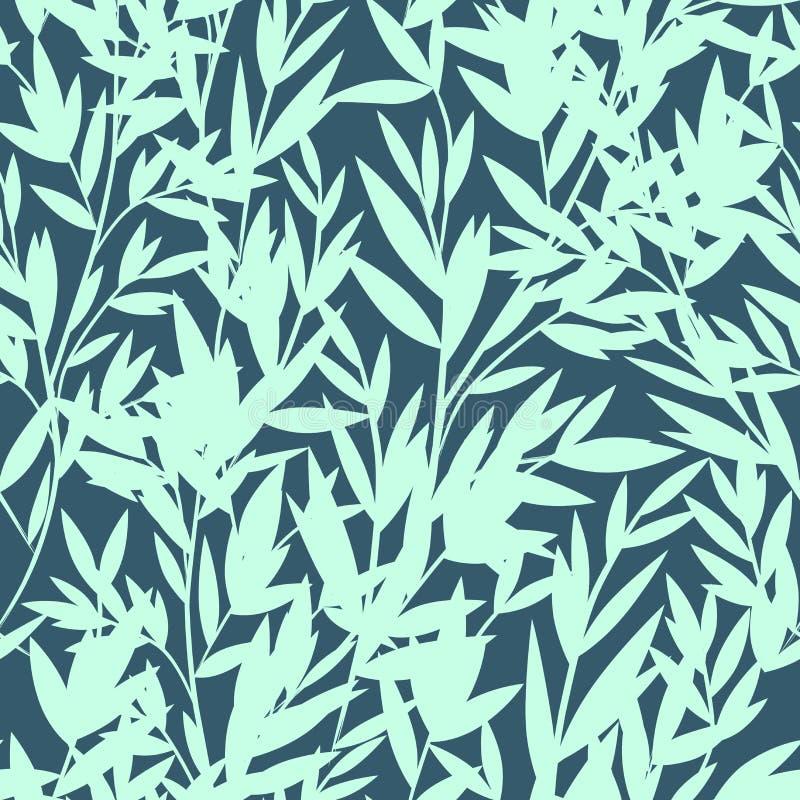 Modello senza cuciture di bambù floreale di vettore royalty illustrazione gratis