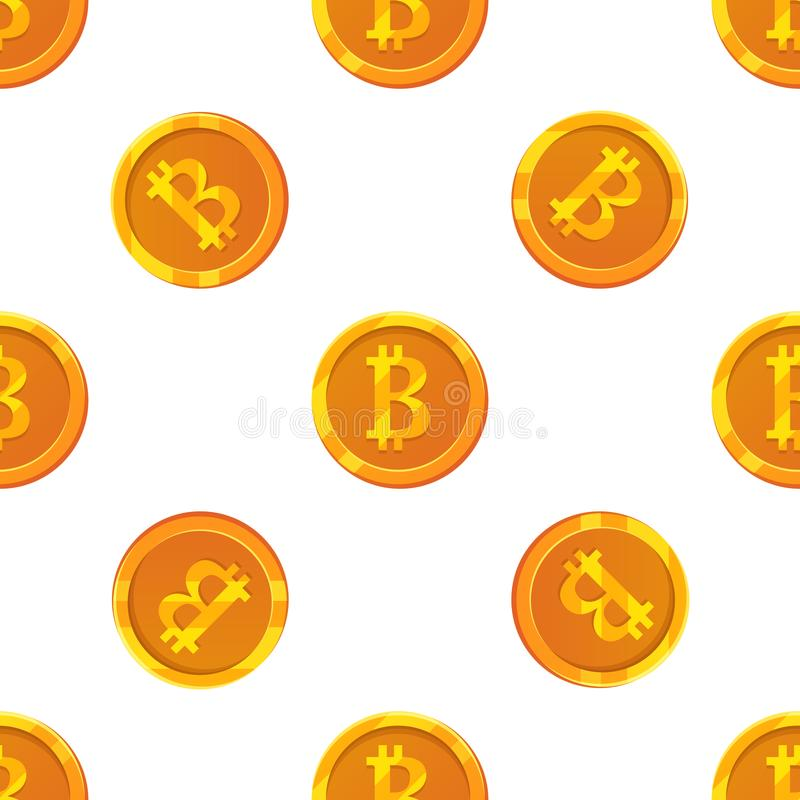 Modello senza cuciture di Bitcoin royalty illustrazione gratis