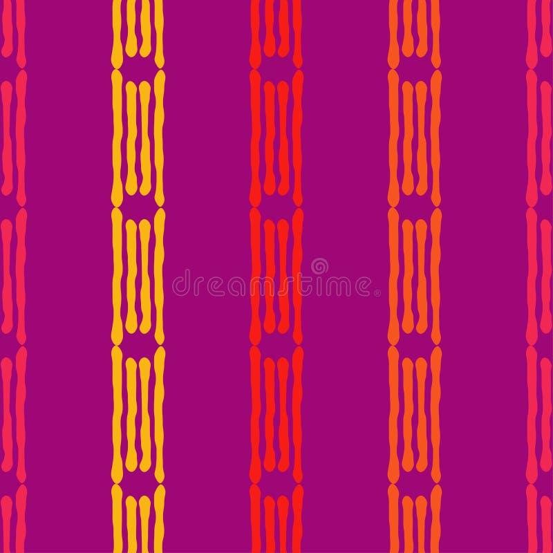 Modello senza cuciture di boho etnico Ornamento tradizionale Priorità bassa geometrica Reticolo tribale Motivo piega illustrazione di stock