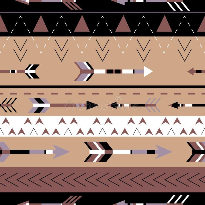 Modello senza cuciture di boho tribale delle frecce Stampa geometrica etnica Struttura della priorità bassa illustrazione di stock