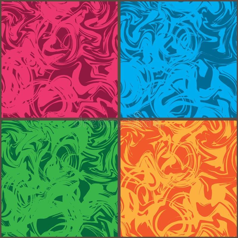 Modello senza cuciture di colore di Wave della struttura pazza dell'insieme royalty illustrazione gratis