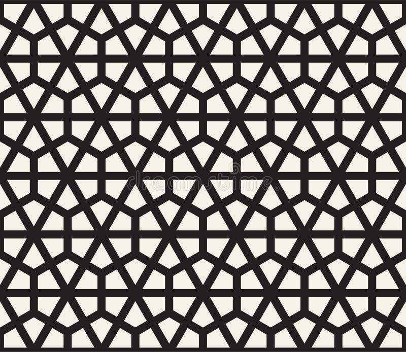 Modello senza cuciture di esagono di vettore Struttura astratta alla moda moderna Ripetizione delle mattonelle geometriche illustrazione di stock