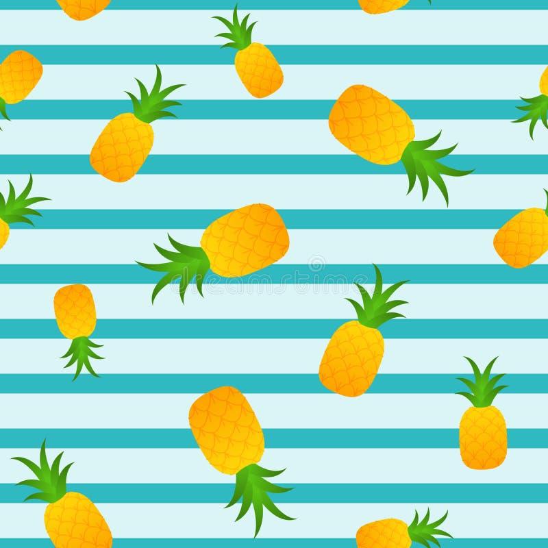 Modello senza cuciture di estate dell'ananas illustrazione di stock
