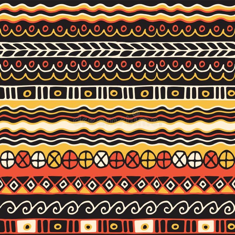 Modello senza cuciture di etnia Stile di Boho Carta da parati etnica Stampa tribale di arte Il vecchio estratto confina la strutt royalty illustrazione gratis