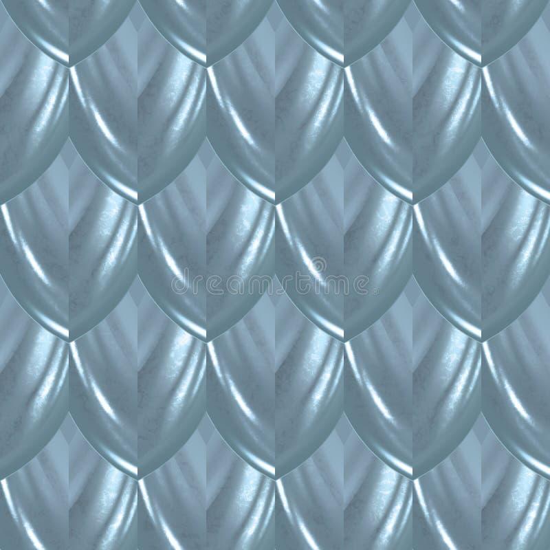 Modello senza cuciture di fascino del pesce della scaglia blu della pelle illustrazione vettoriale