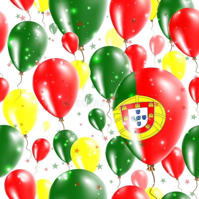 Modello senza cuciture di festa dell'indipendenza del Portogallo illustrazione di stock