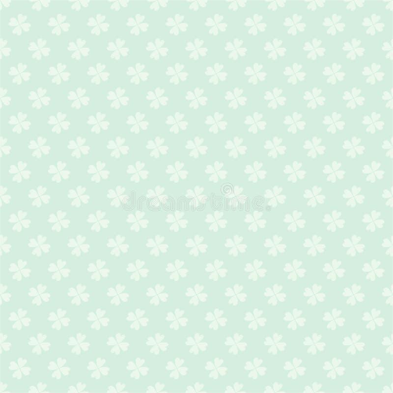 Modello senza cuciture di giorno di Patricks del san con il fondo variopinto della molla del fumetto di vettore dell'acetosella d royalty illustrazione gratis