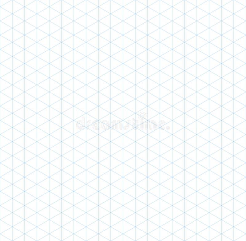 Modello senza cuciture di griglia isometrica blu-chiaro illustrazione di stock
