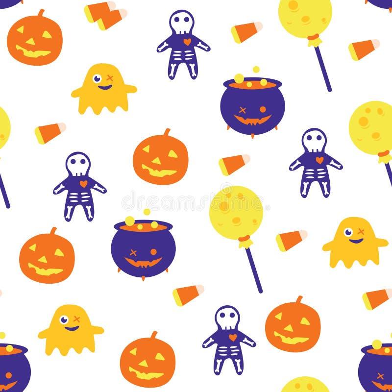 Modello senza cuciture di Halloween immagine stock