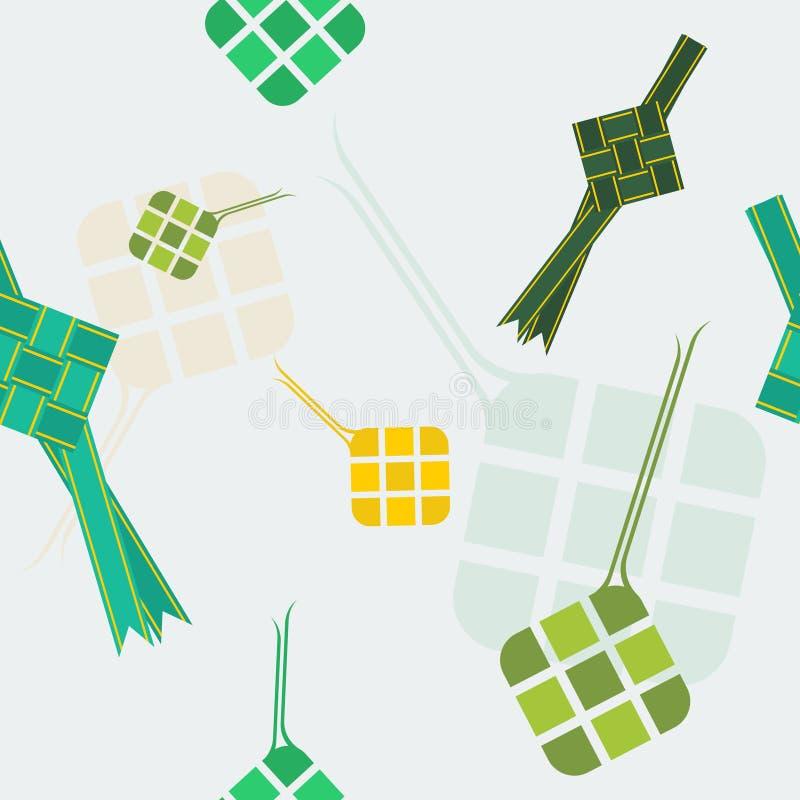 Modello senza cuciture di Ketupat dell'indonesiano royalty illustrazione gratis