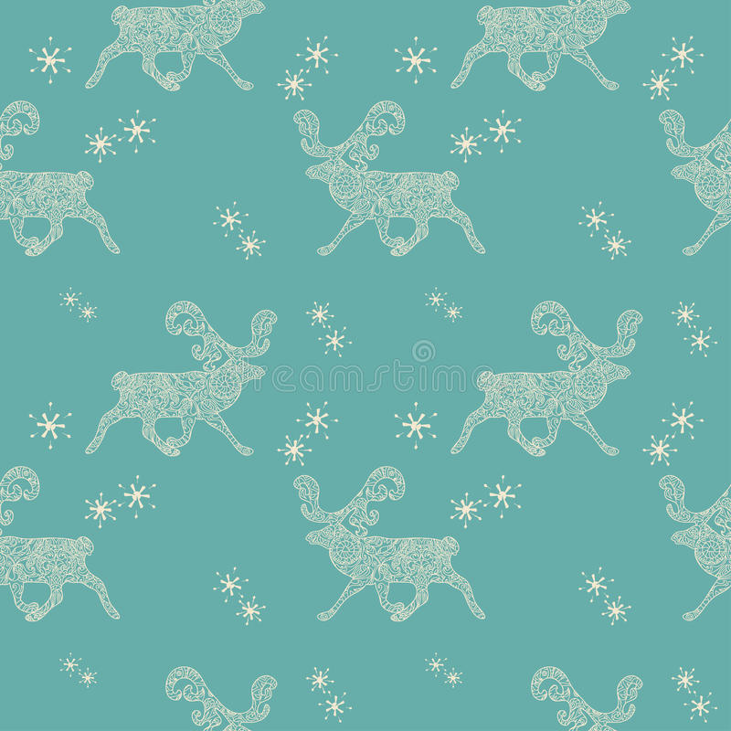Download Modello Senza Cuciture Di Natale Con I Cervi Illustrazione di Stock - Illustrazione di arte, vecchio: 56886910