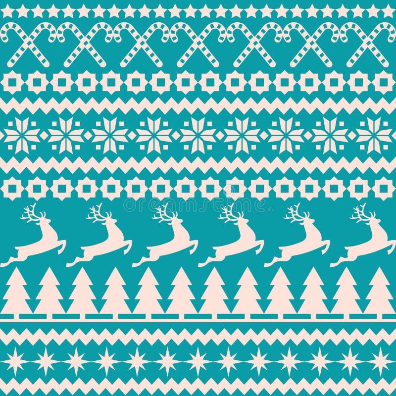 Modello senza cuciture di Natale nello stile nordico illustrazione di stock
